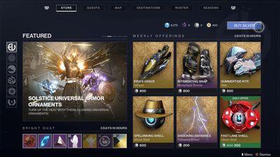 Destiny 2 New Light DLC store
