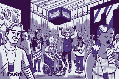 Illustration of a TwitchCon conference