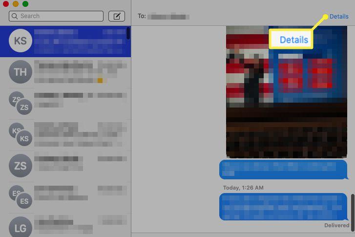 Messages > Details
