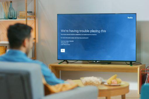 Hulu error P-EDU103 displayed on a television.