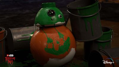 BB-8 gets a holiday makeover in 'LEGO Star Wars Terrifying Tales'