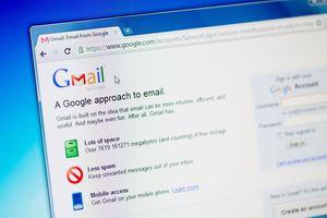A Gmail login screen.