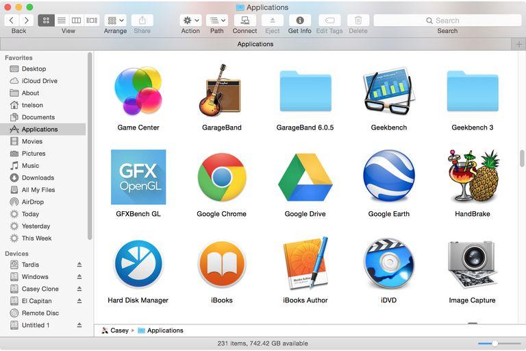 Application Folder Icon View mac