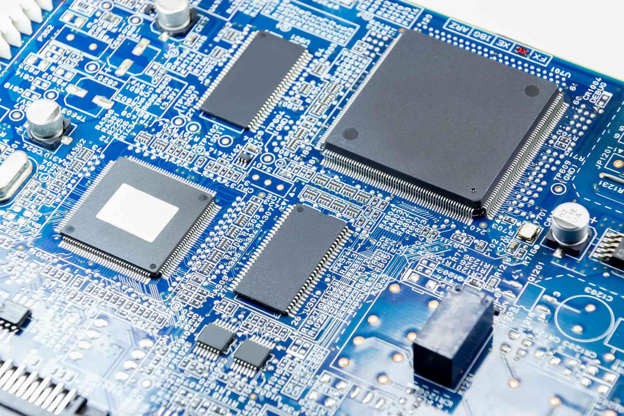 Image of a PC motherboard