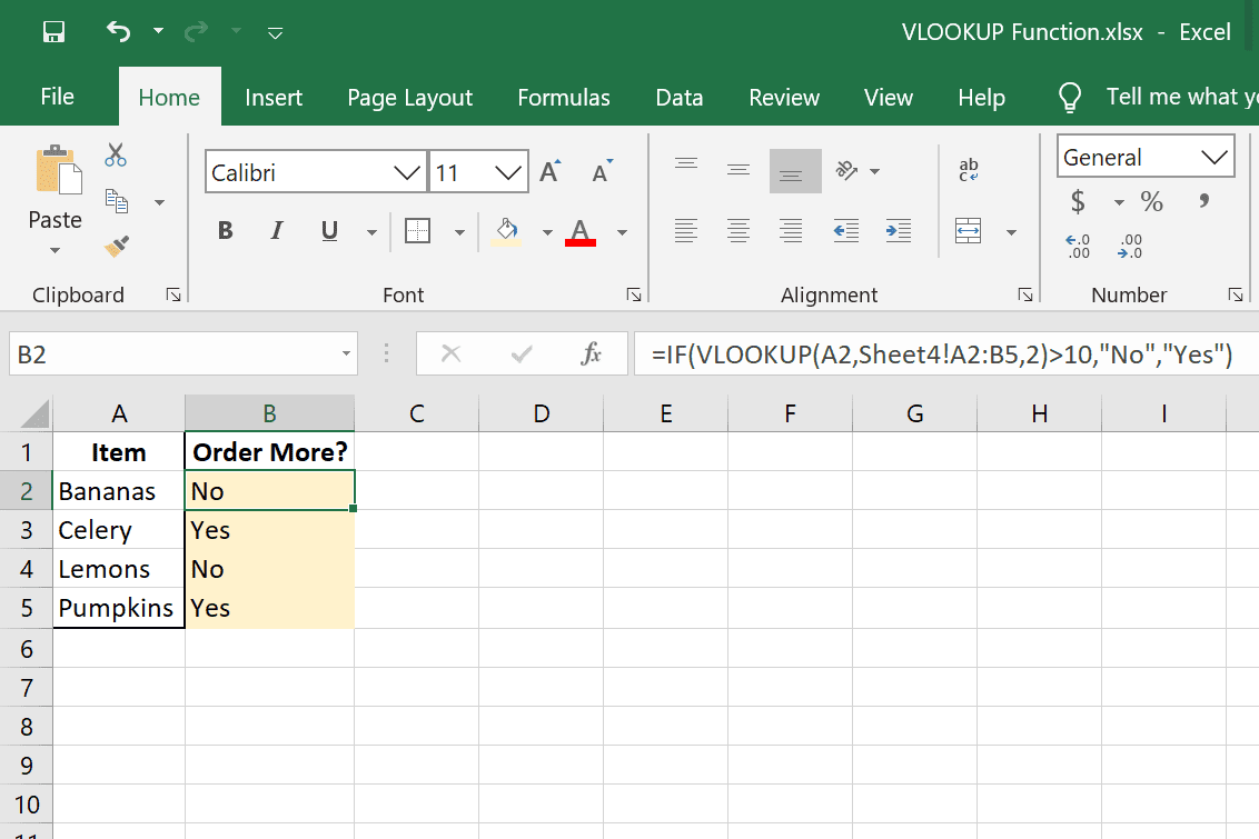 VLOOKUP and IF examples in Excel