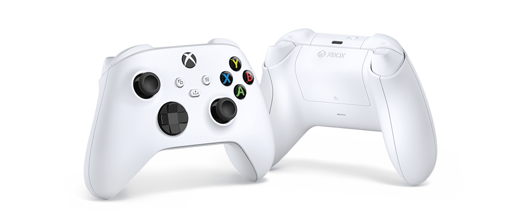 The Xbox Series S controller from both sides.