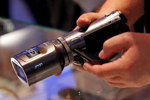 Close up of 3D camera at IFA Technology Fair
