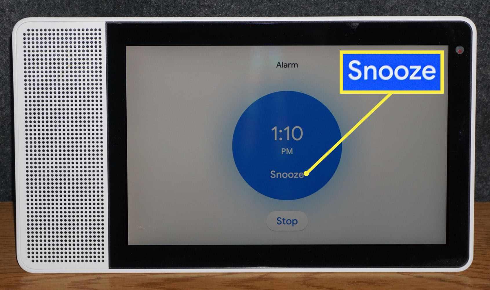Snooze Prompt on Lenovo Smart Display