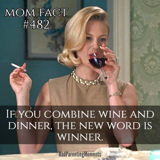 Wine mom meme