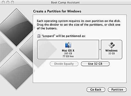 make windows partition bootable on mac