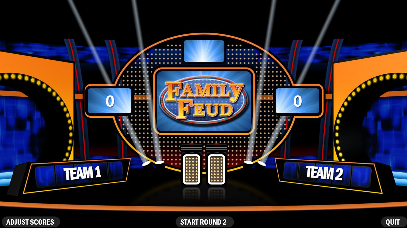 a family feud team screen