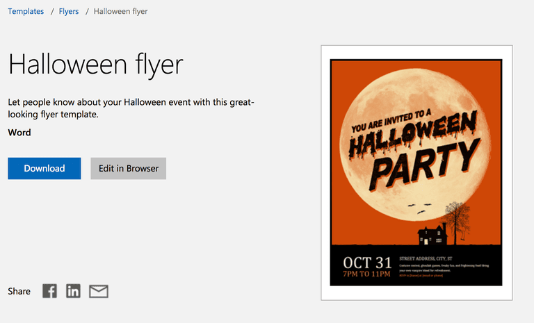 halloween flyer for microsoft word