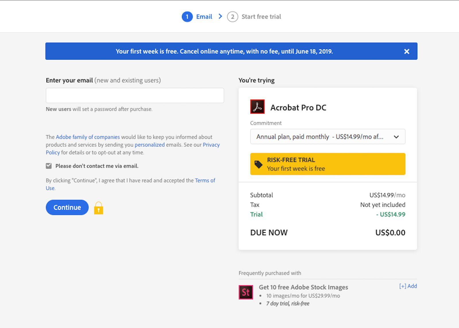 A screenshot of Adobe.com.
