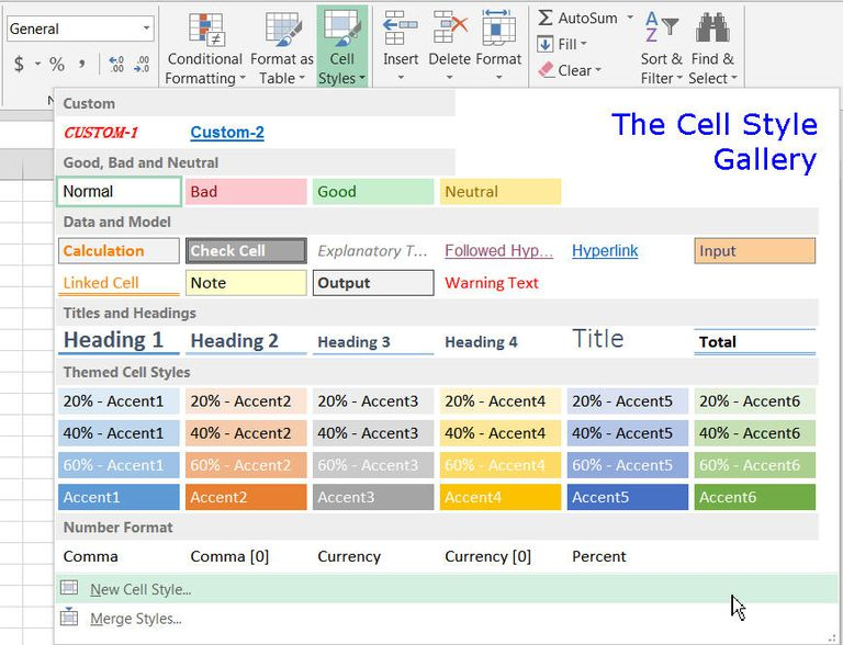 Create Copy And Modify Custom Cell Styles In Excel