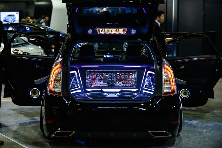 Car sound system on display at Tokyo Auto Salon 2015