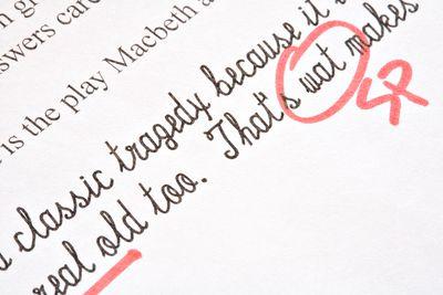 School Exam with Correction Marks