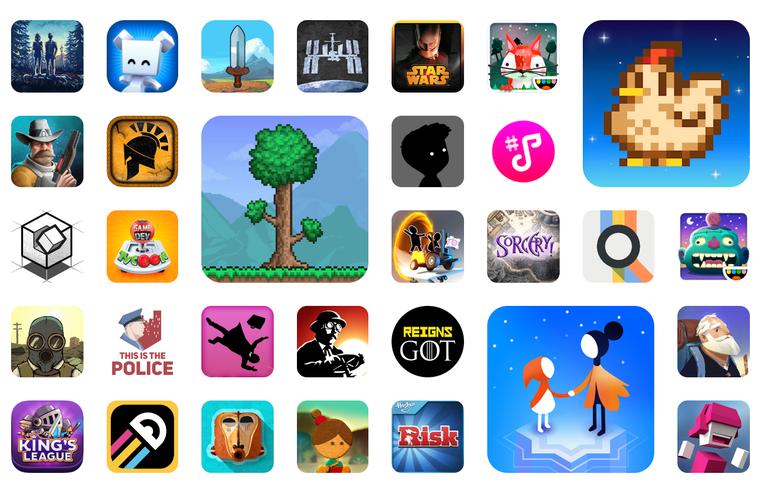 screenshot of Google Play Pass app icons