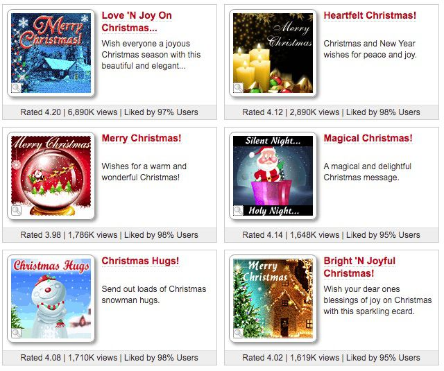123 Greetings free Electronic Christmas Cards