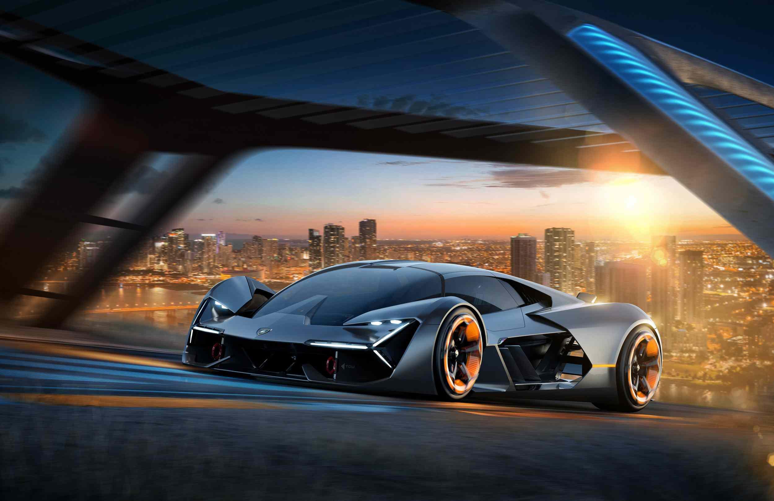 Lamborghini Terzo Millennio all electric sports car.