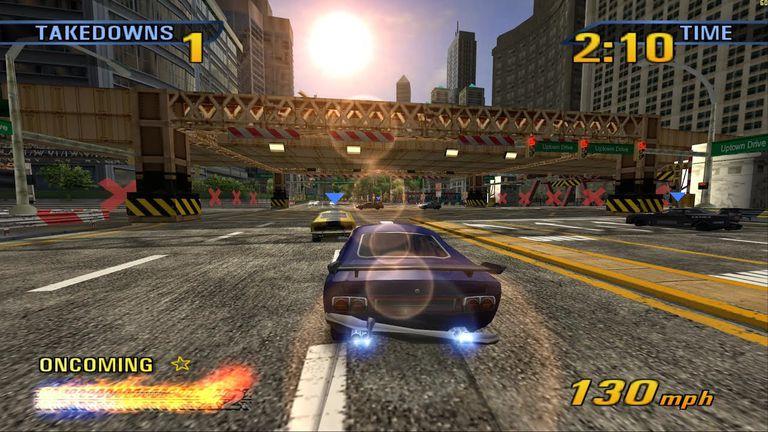 Car racing in Burnout 3:Takedown