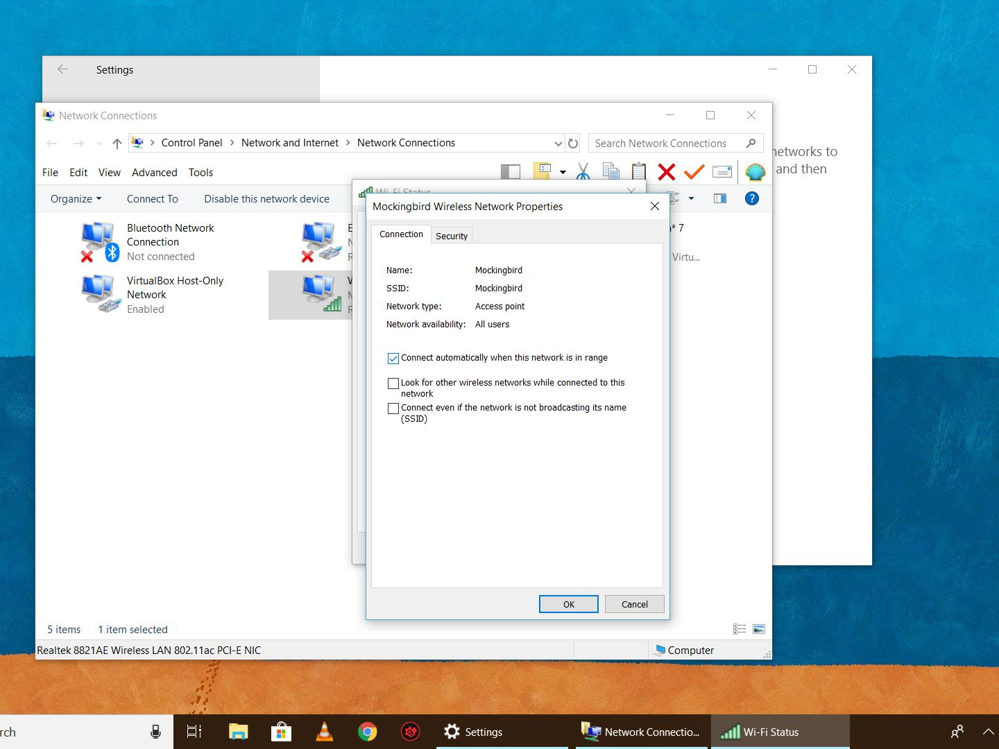Disable Automatic Wireless Connections on Windows