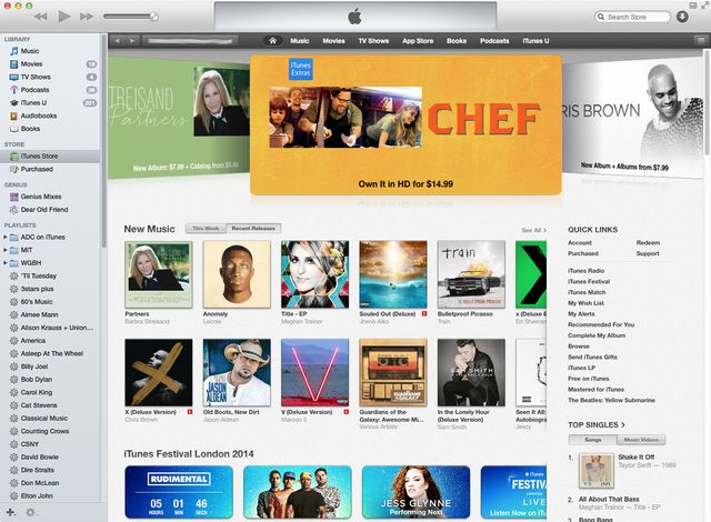 iTunes 12 display