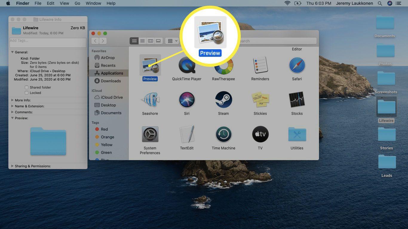 A screenshot of the Applications folder on macOS.