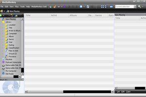 MediaMonkey Library screen