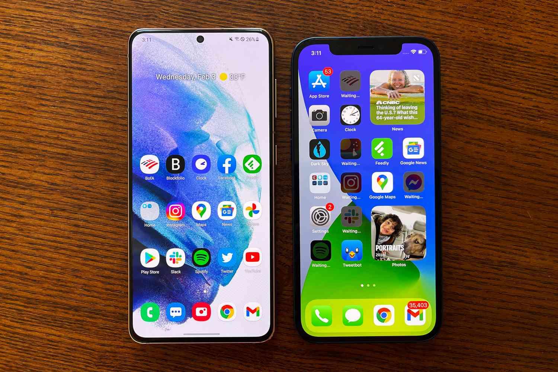 Samsung Galaxy S21 vs. Apple iPhone 12