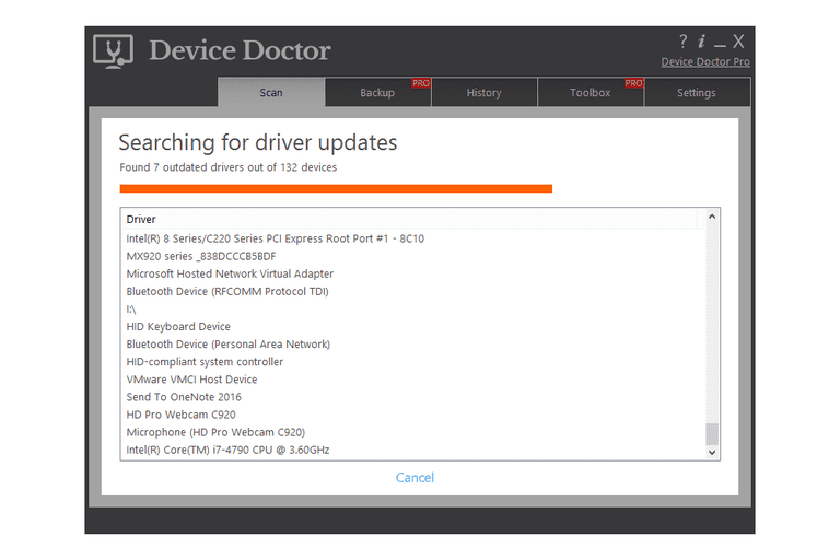 Device Doctor v5.0.162 in Windows 8