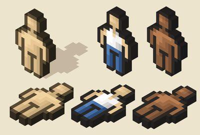 Isometric pixel character
