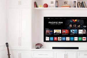 VIZIO TV mounted on the wall