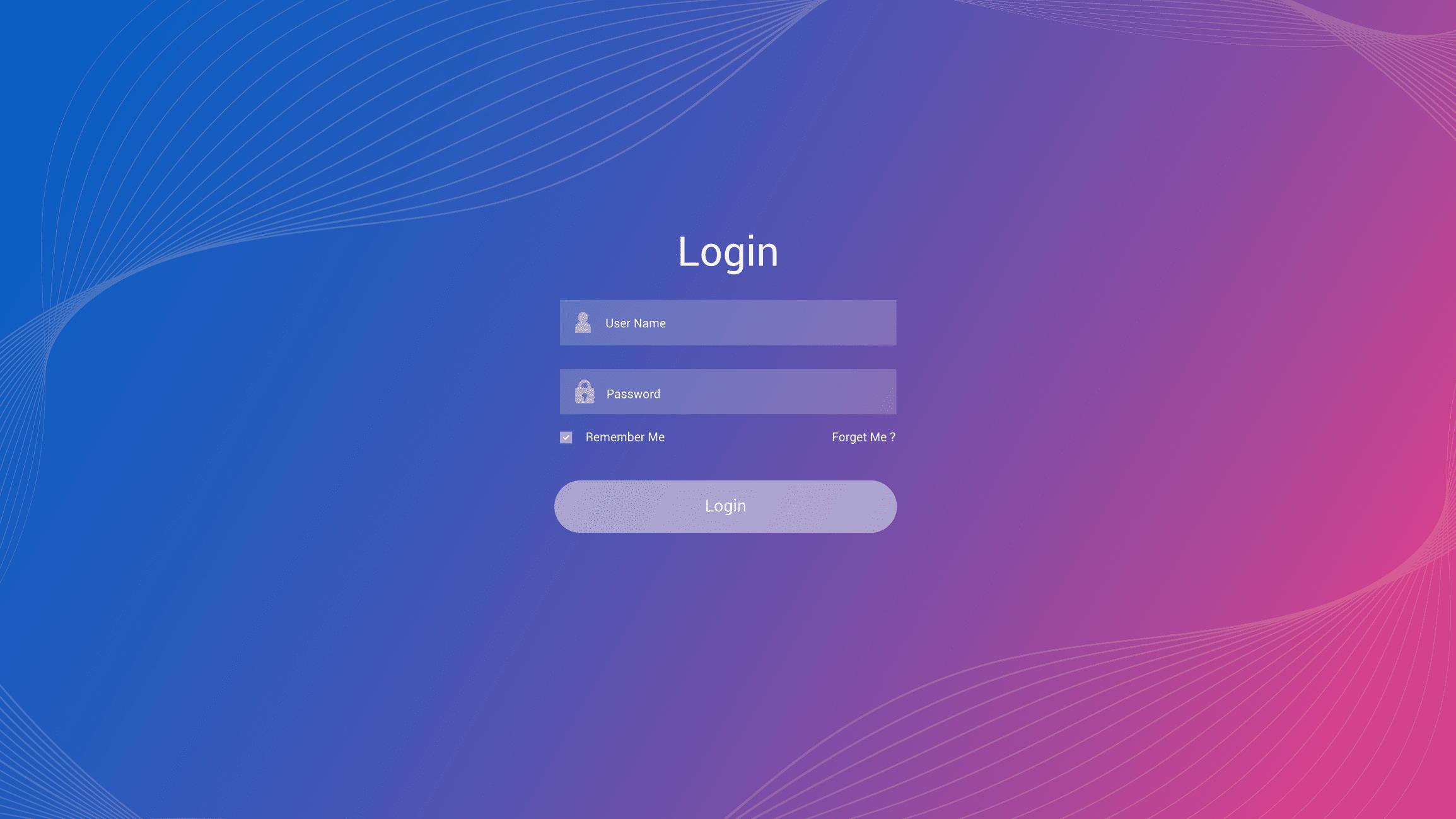 The windows login screen
