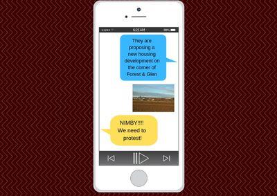 Text Message Using NIMBY