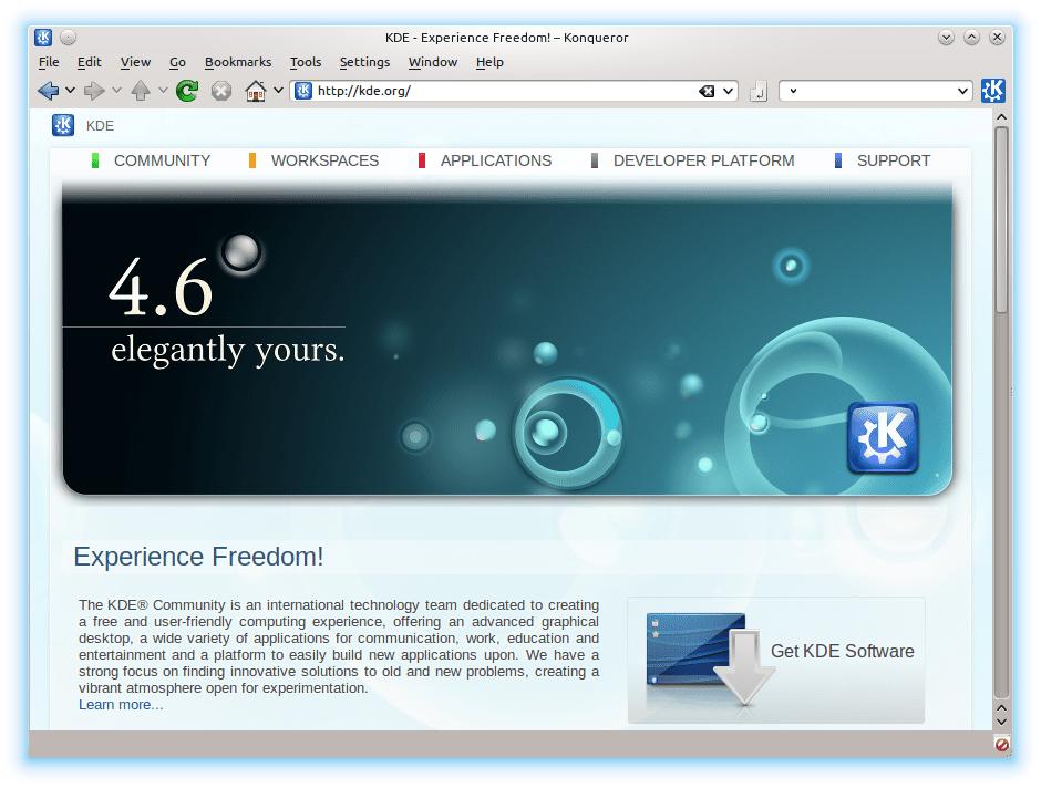 Konquerer web browser.