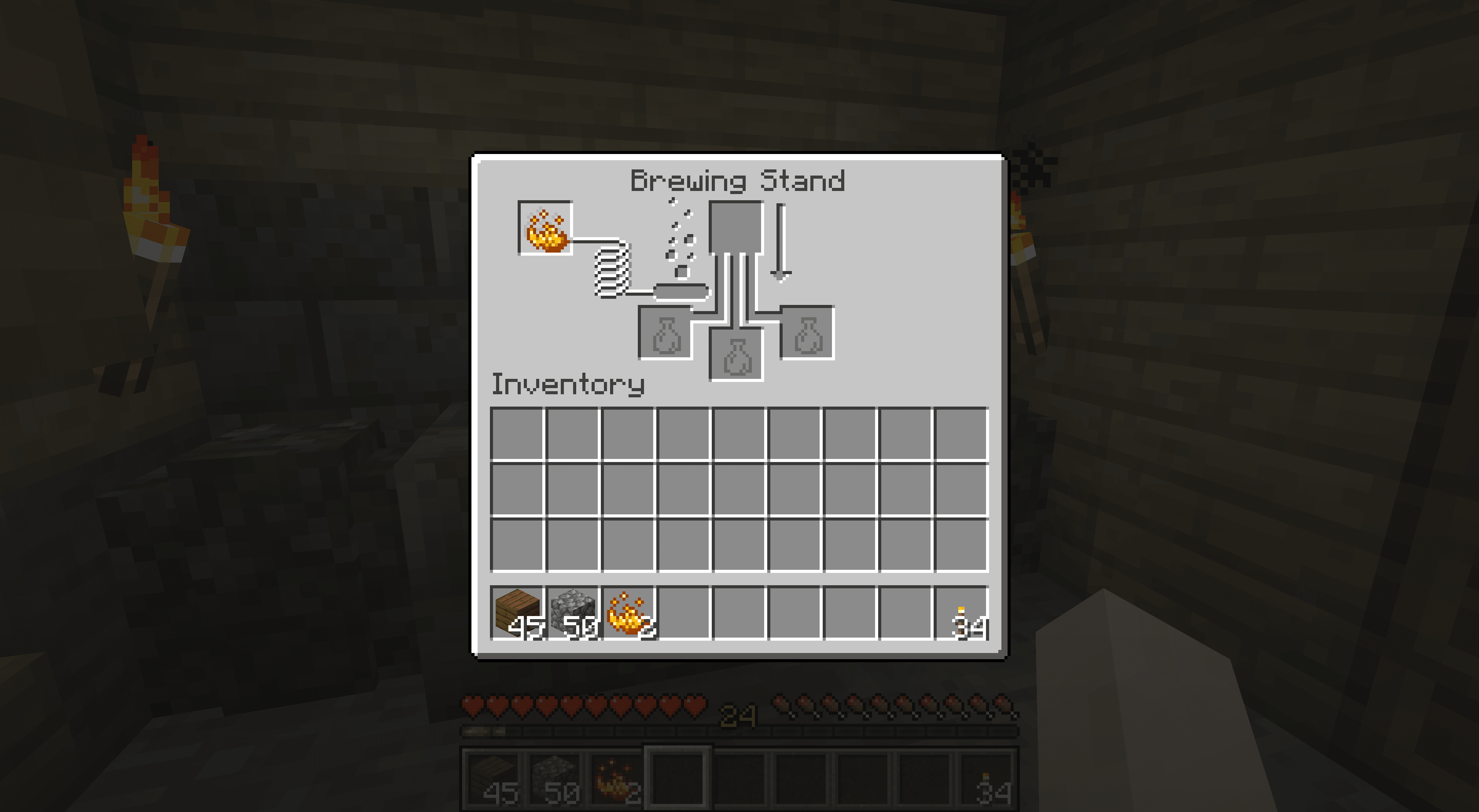 Powering a Brewing Stand in Minecraft.