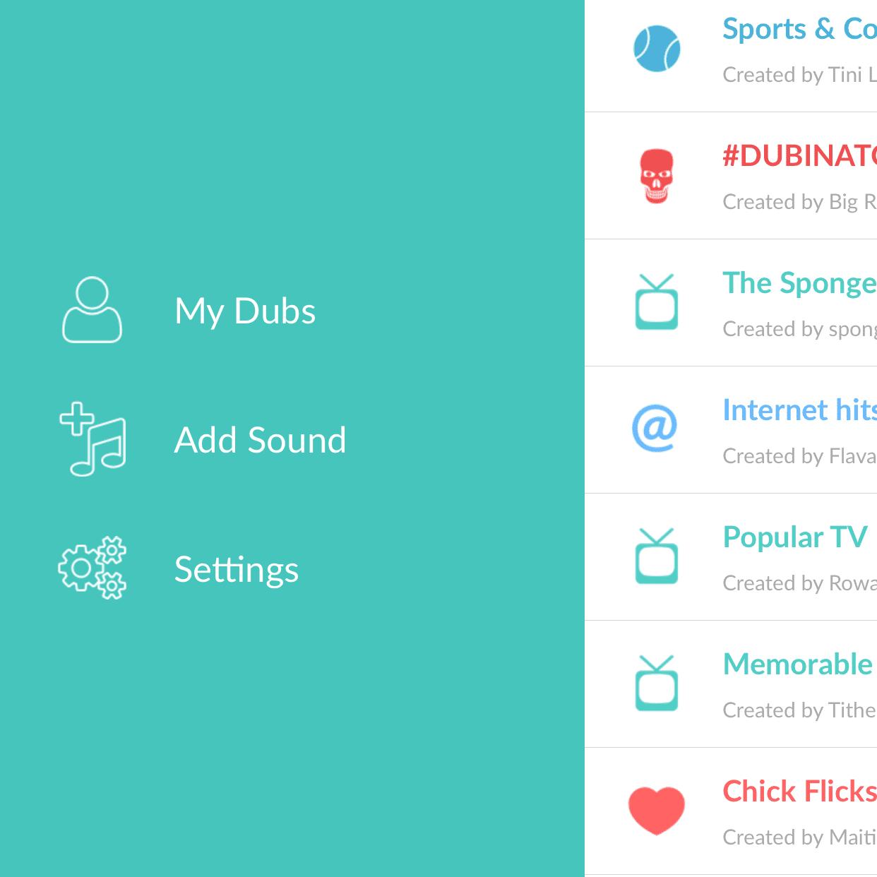 Screenshot of Dubsmash for iOS