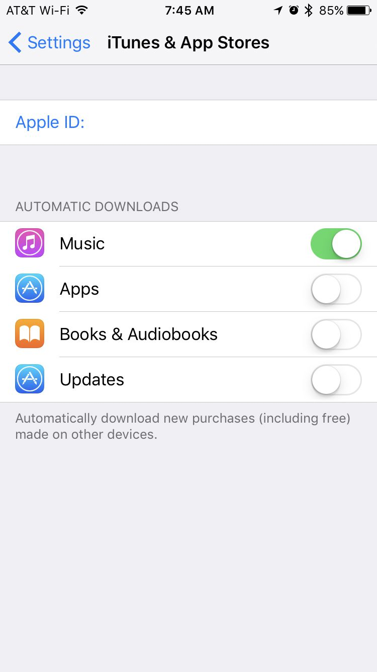 itunes and app stores screen on iPhone