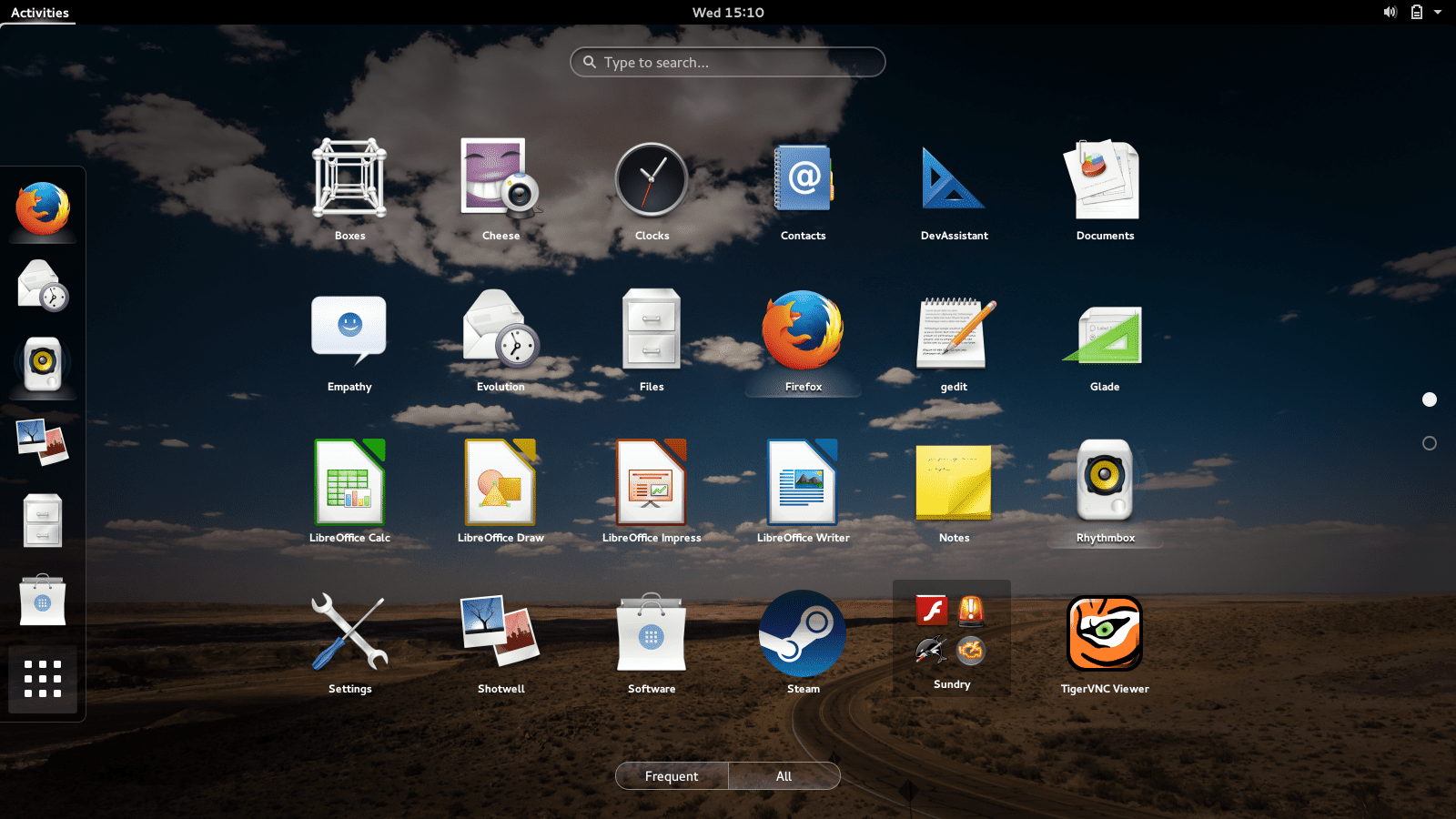 All applications in Gnome