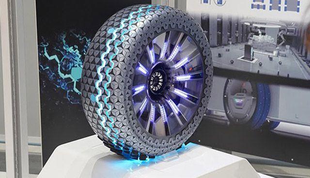 A conceptual smart tire image.