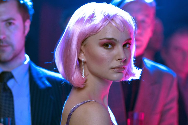Natalie Portman in Closer with pink hair