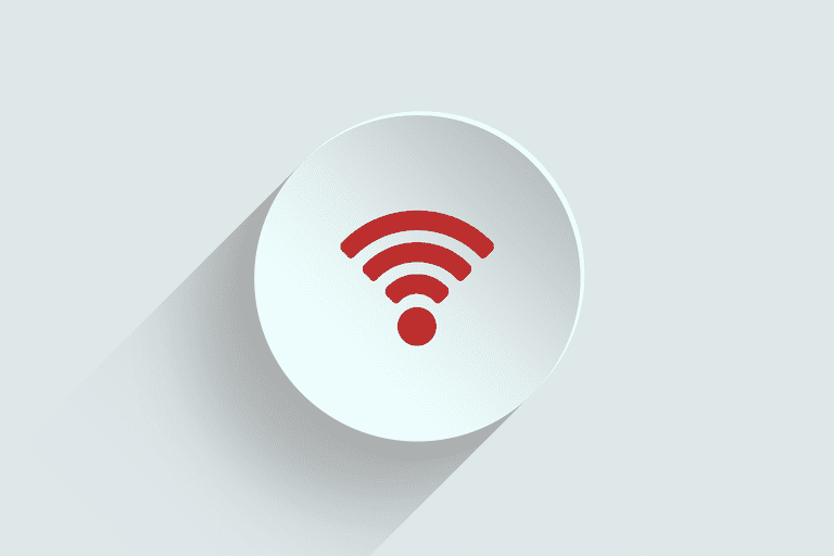 Red Wi-Fi bars