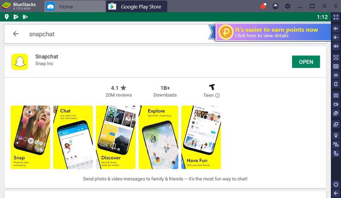 A screenshot of BlueStacks.