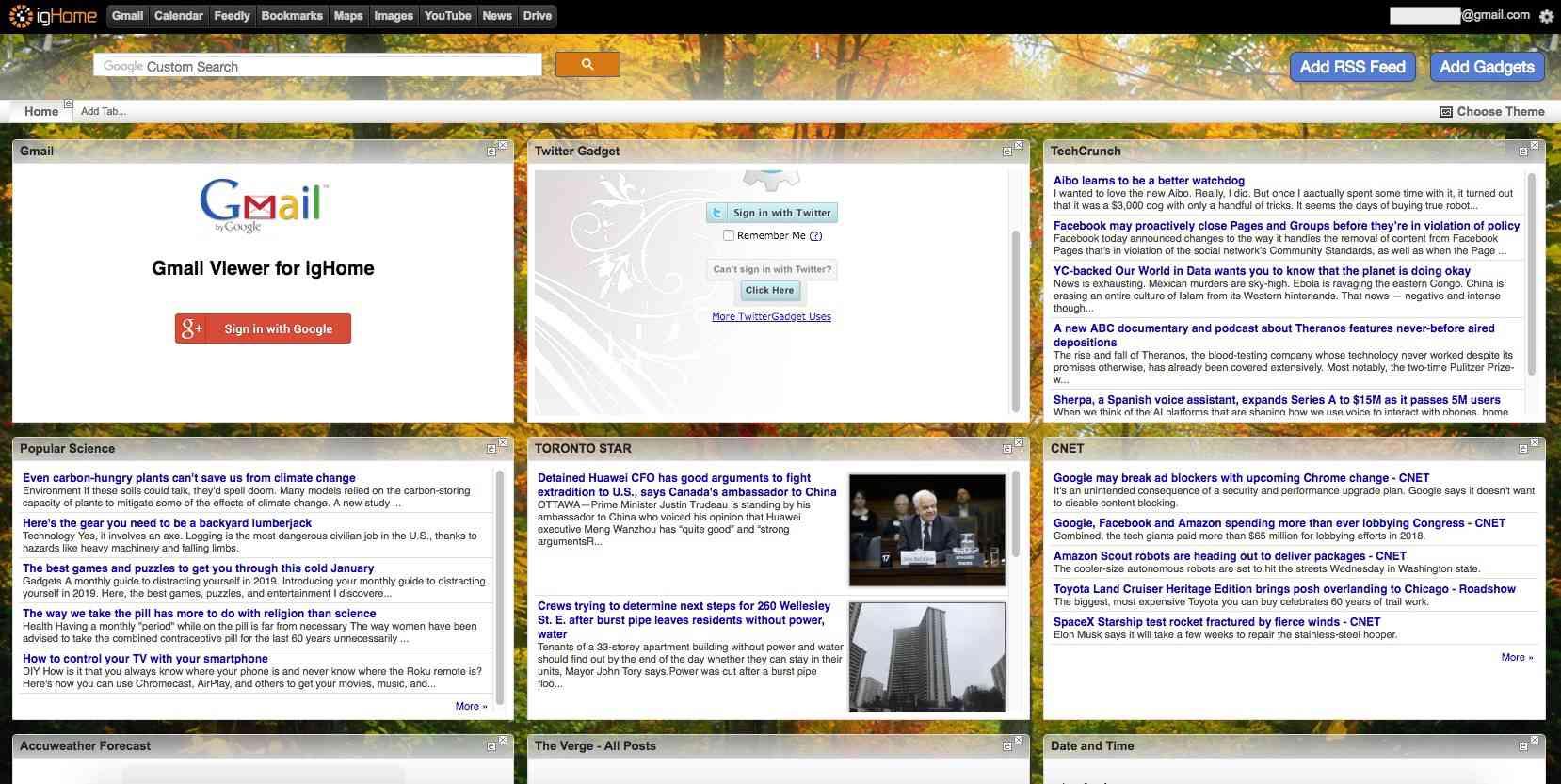 8 Alternatives to iGoogle Homepage