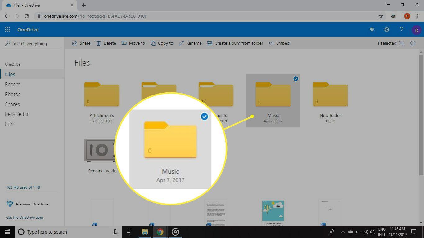Music folder in Windows