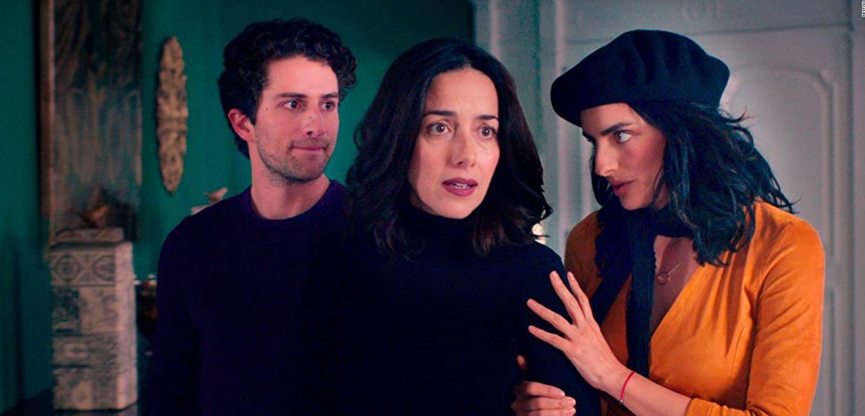 Cecilia Suárez, Aislinn Derbez, and Dario Yazbek Bernal in 'The House of Flowers'