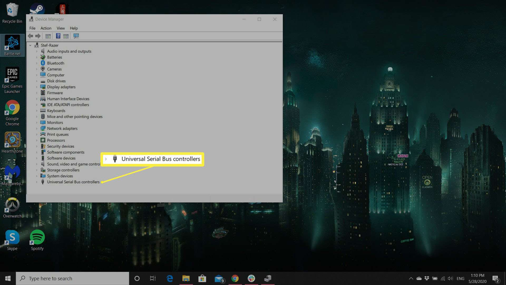 A screenshot showing the Device Manager panel in Windows.