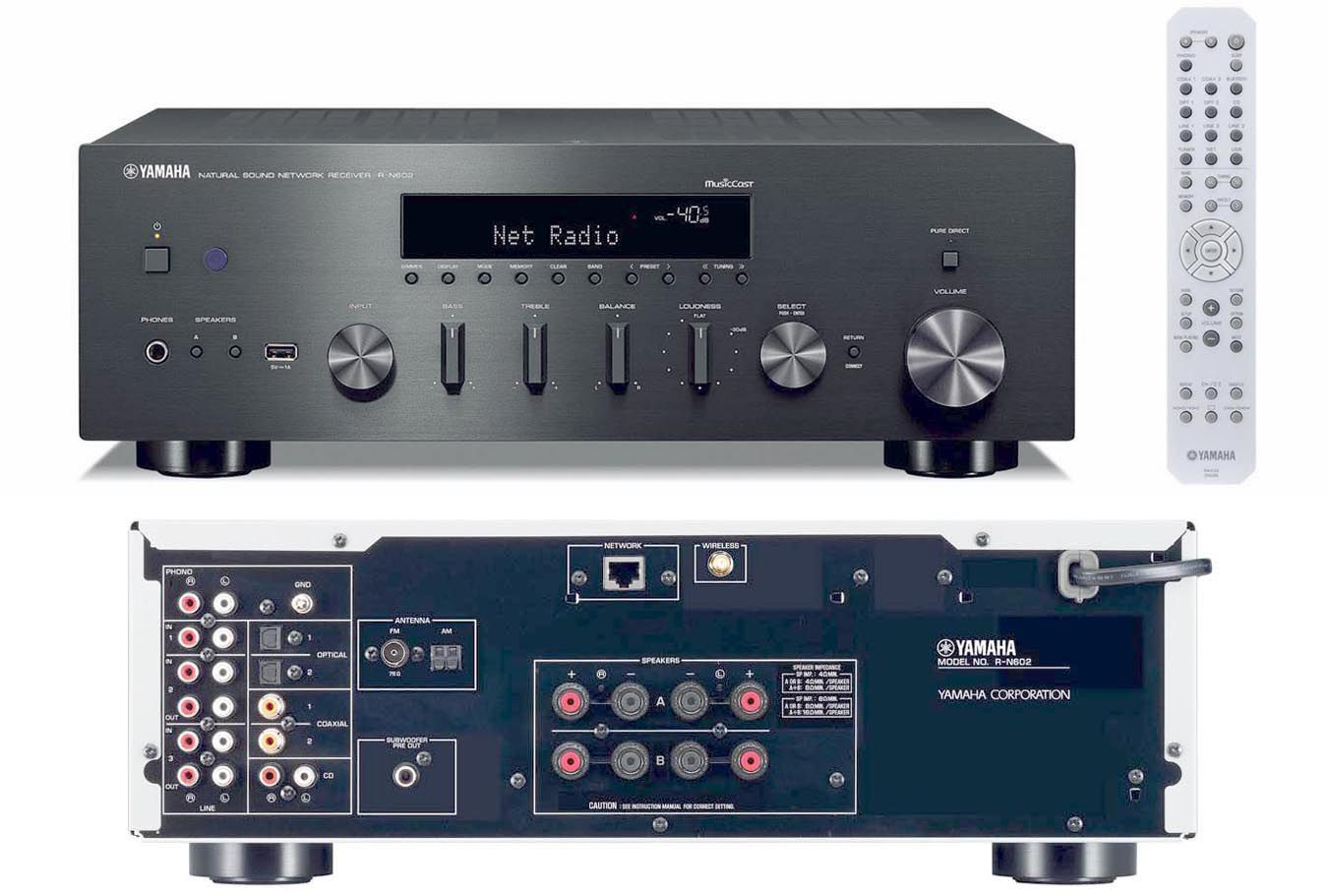 yamaha 39 s r n602 and r n402 stereo receivers with musiccast. Black Bedroom Furniture Sets. Home Design Ideas
