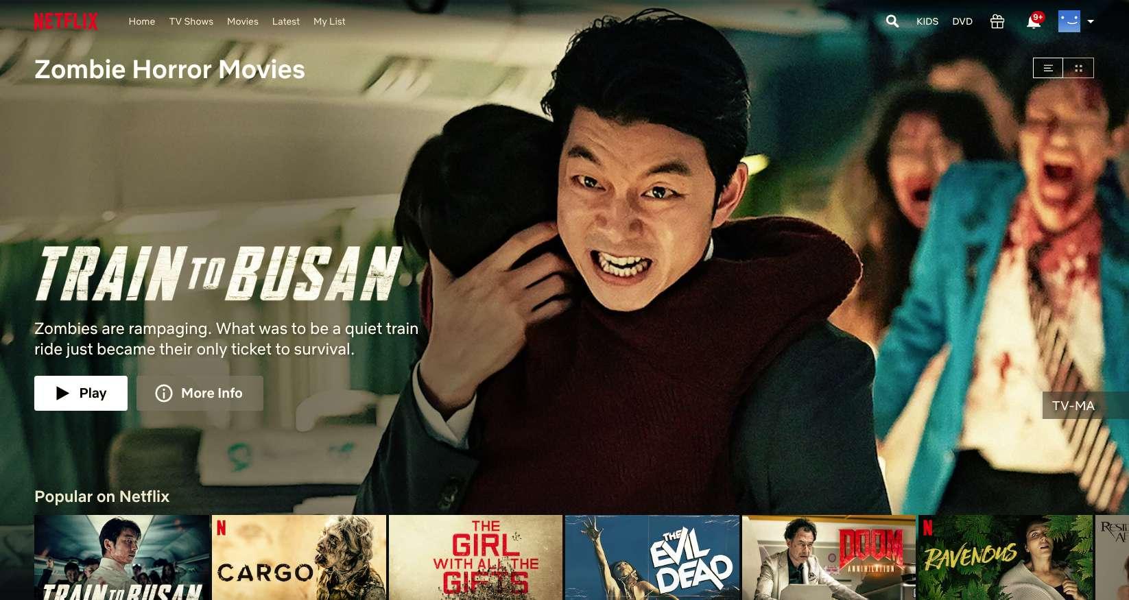 Zombie Movie Train to Busan found in in Netflix secret codes