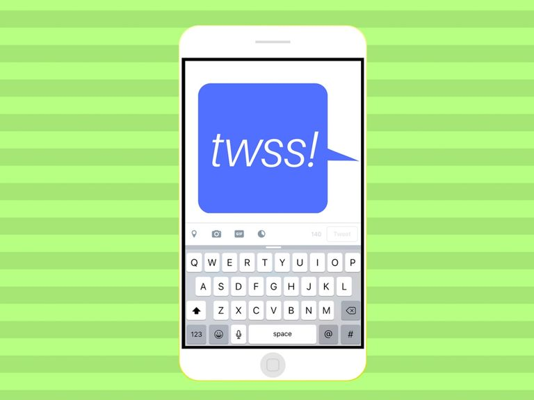 TWSS acronym being used on cell phone